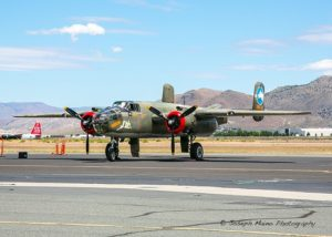 Best known for taking part in the daring Doolittle raid on Japan after Pearl Harbor, the small, two engine B-25 Mitchell Bomber was the first such airplane to take off from an aircraft carrier.