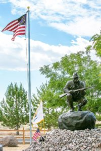 The Trooper monument at the Northern Nevada Veteran's Memorial Cemetery.