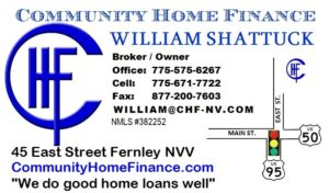 CHF Card ad for Fernley Reporter