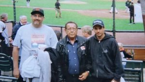 This is me and my dad Robert and my brother Randy at a San Francisco Giants game in 2007. The lessons my dad taught me are the reason I am who I am today, I love you and miss you, dad.