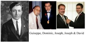 From Joseph Maino My grandfather (Giuseppe), my Dad (Dominic), and my son's Dad (Joseph).