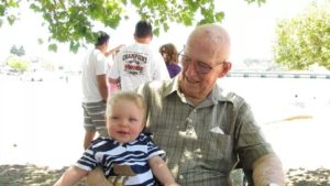 From Becki Howlett My Dad, Don Erwin, and his first great grandchild, Ian. 3 months before he passed. Miss him everyday.