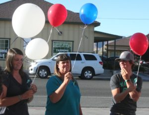 The King families prepares to release balloons in memory of Jayme King.