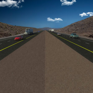 Photo courtesy NDOT A photo illustration shows what the USA Parkway will look like when it is complete.
