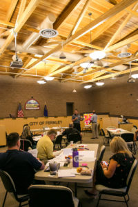 Jospeh Maino, The Fernley Reporter City employees, city council members and members of the community participated in a strategic planning workshop at city hall last Saturday.