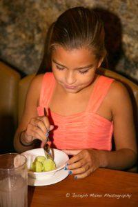 Eliano Barone enjoys her gelato.