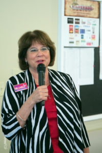 Candidate for the 9th District Board of Regents position, Carol Del Carlo discussed the need for Nevada's Community. Colleges.