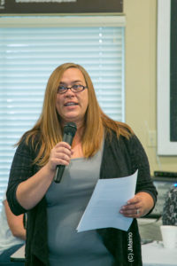 Jennifer Pinkerton of the Fernley Precious Paws Society discussed the mission and goals of the Society.