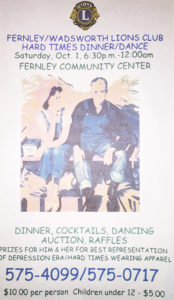 Fernley/Wadsworth Lions Club Hard Times Dinner Dance