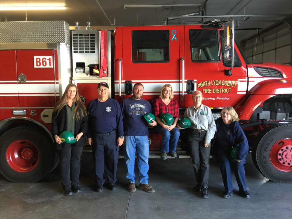 Five people completed their Emergency Response Training and are eligible to From left to right in picture: J. Renee Green; Ron Johnny (CERT Coordinator/Instructor); Michael Carlucci; Shelley Pringle; Terry Smith; and Mary Lint