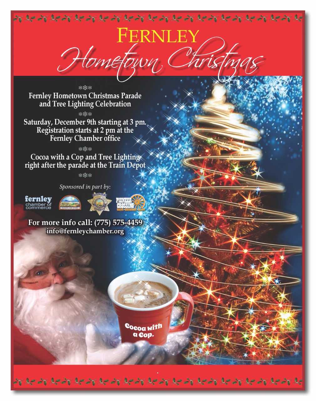 Fernley Hometown Christmas events scheduled for Dec. 9