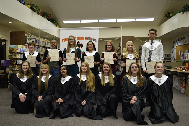 Fernley High School's members of Hans Lohse Chapter of National Honor Society inducts seven new members