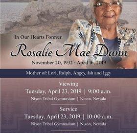 Rosalie Mae Dunn